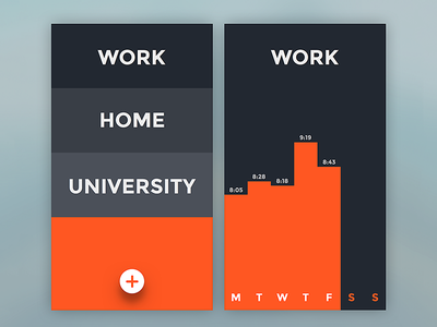 Time Tracker App ux ui typography sketch ios tracker time flat design app