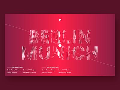 MING Labs x Berlin Design Night II design gradient berlin typography abstract