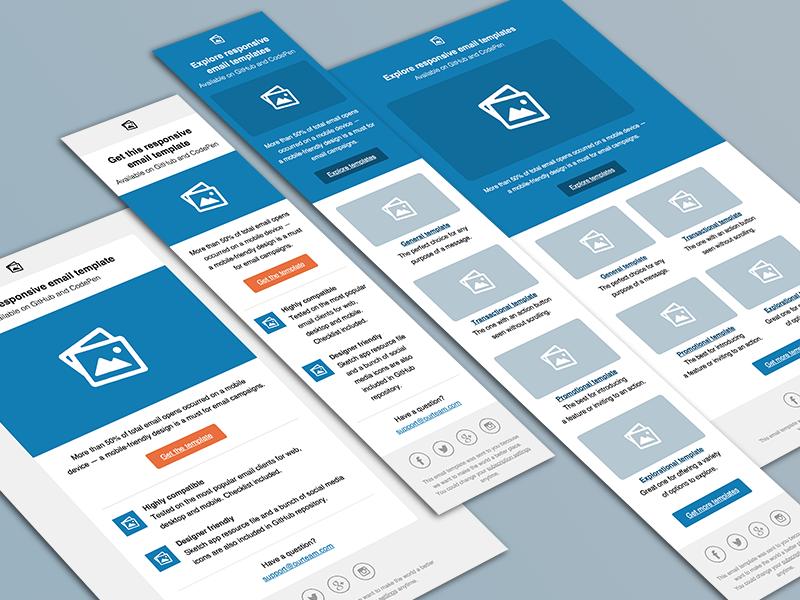 email templates by konstantin savchenko dribbble