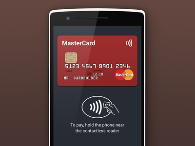 Mobile payment card android pay bank credit card payment wallet finance contactless paypass mastercard nfc app mobile