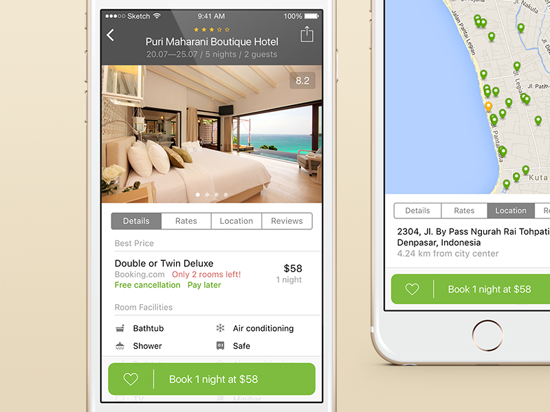 Hotellook redesign travel reservation redesign hotellook hotel booking app ios interface mobile