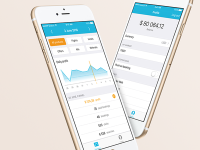Travelpayouts iOS travelpayouts aviasales jetradar app ios mobile travel booking dashboard affiliate