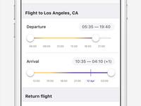 Flight time slider