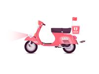 Baidu takeout motorcycle car illustration-4