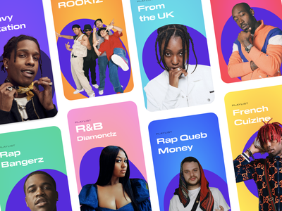 BACKPACKERZ New Playlists Design hiphop music media blob stories rap