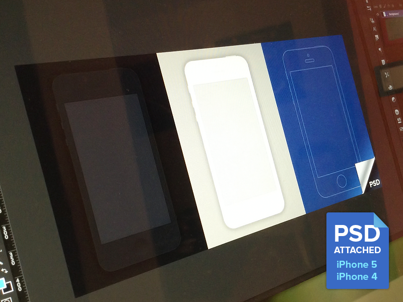 Minimal iPhone 4 / iPhone 5 Templates minimal iphone templates iphone 4 iphone 5 free psd mockups