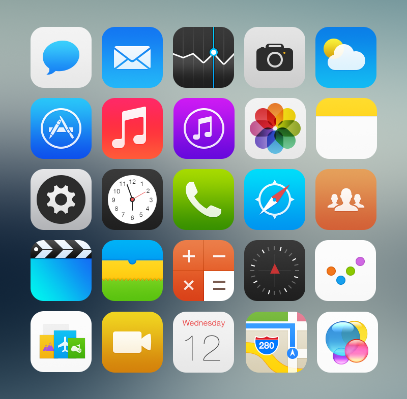 All icons ios7