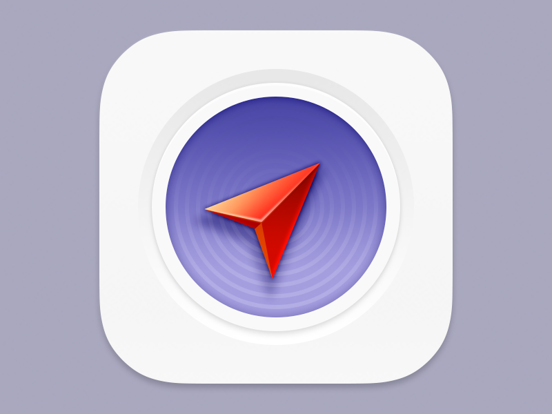 Location app icon clean simple ios location pin map