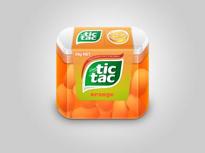 Tic-Tac Box icon  sweet wip icon tac tic tic tac box orange