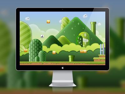 Super Mario Bros DOWNLOAD download super game bros mario display pc lcd mac picture wall wallpaper psd