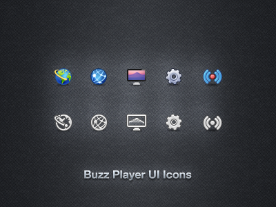 Buzz Player UI Icons buzz player icons ui app