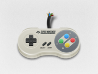 Cartoon SNES Controller