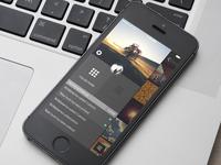 Menu - Photo app