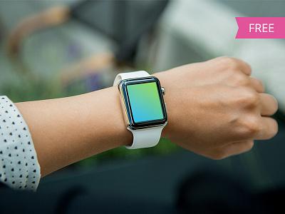 Free Apple Watch Mockup psd hand apple watches watch free mockup template apple watch free mockup