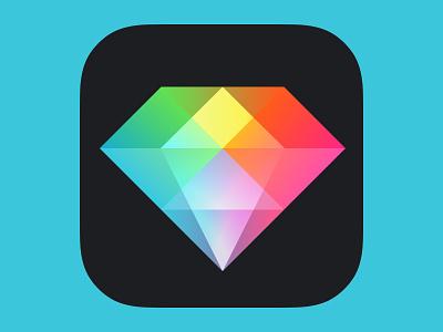 Photo Editor app icon diamond icon ios app