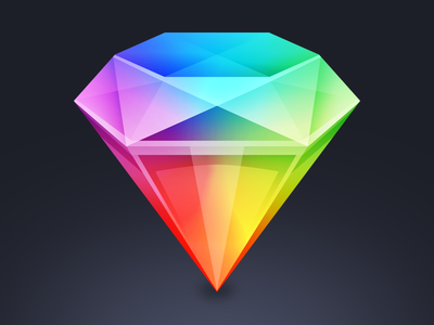 Sketch App icon Replacement diamond mac replacement icon app sketch