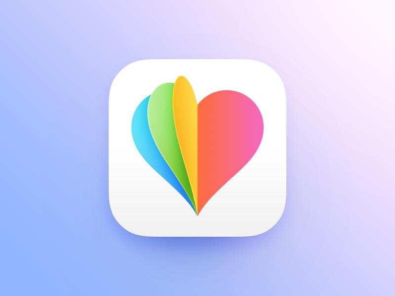 Flyrt App Icon logo chat paper flip design heart icon app date ios flyrt