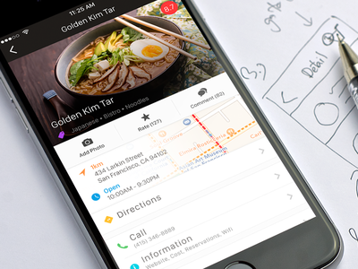 Food Page Concept clean ux ui interface ios app