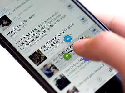 Long Tap to Explore action tap long tap explore list comments reader read ios app clean interface