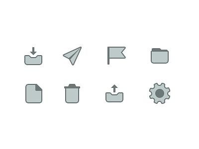 Owlie Mail App UI Icons icons ui email app