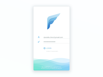 Email Client Login Screen signin signup app ios screen wing pigeon icon mail client email