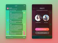 Flirting game app logo chat game flirt design heart ui app date ios flyrt