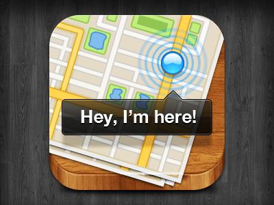 iOS icon icon ios map