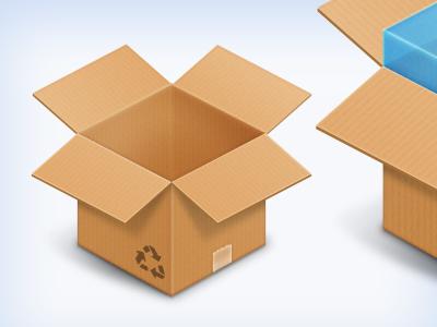 Box & DropBox icons PSD free psd icon box dropbox