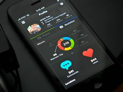Statistics UI ui statistics profile design app