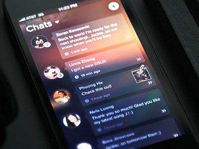 Chats UI Update chats ui design flat