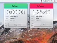 FreshBooks MenuBar Timer Concept (Light)