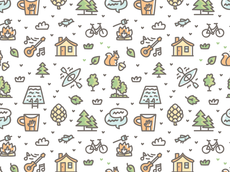 Kids Camping pattern 🏕 cute icons branding cartoon doodle vector design pattern illustration pattern design pattern art illustration pattern
