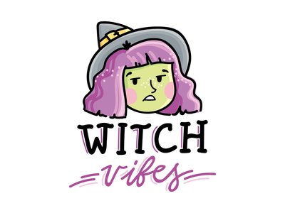 Witch, please! people application app ios iphone girl woman magic halloween witch illustration stickers cartoon doodle vector character cute