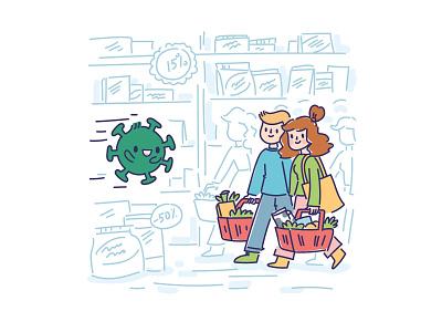🦠 Virus Character pandemia pandemic epidemic care drawn drawing character design characters vector art kawaii illustrations stickers cartoon doodle vector character cute health care healthcare healthy