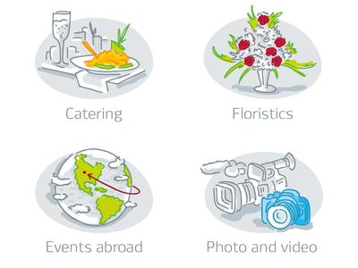 Illustrative icons