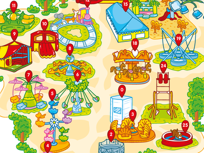 Attractions map for kids