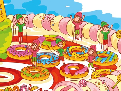 Mad sweet map! Part 2! sweet sweets chocolate mad bright colorful candy donut icecream lollipops tasty game