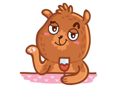 it's Friday, guys! doodle cartoon animal character imessage stickers icons sticker ios laugh imessage cute bear