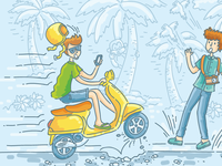 Set of travel insurance illustrations