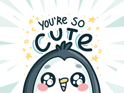 Penguin character imessage star text penguin illustration cartoon ios stickers doodle vector character cute