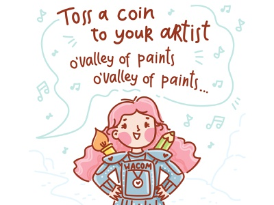 Toss a coin ... pencil drawing song fanart fan witcher illustration cartoon doodle vector character cute