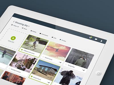 Rush ipad video ui interface upload flat design