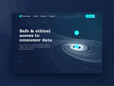 Datavillage webdesign datavillage dark branding interface ux design ui