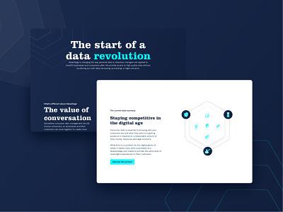 Datavillage webdesign datavillage branding dark interface ux design ui