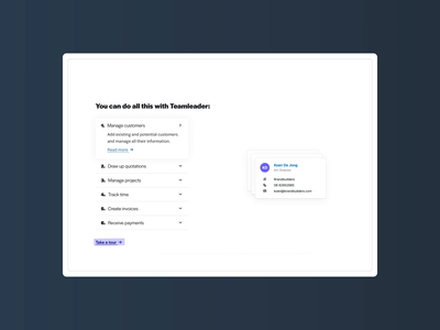Teamleader branding webdesign interface ux design ui