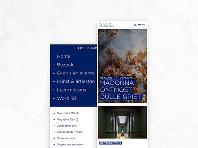 KMSKA light museum agency website webdesign interface ux design ui