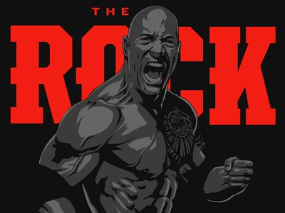 The Rock wwe the rock wrestling style guide licensing art consumer products dwayne johnson