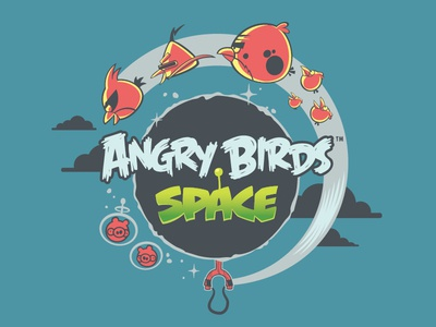 Angry Birds Space - Licensing Art physics space rovio mobile game licensing art angry birds