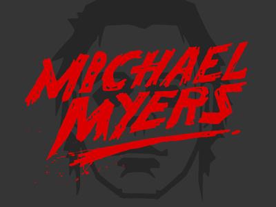 Halloween - Licensing Art hand drawn type illustration movie horror michael myers licensing art halloween