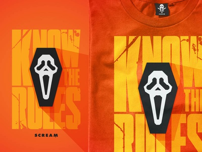 Know the Rules! illustration movie horror scream ghostface licensing art halloween